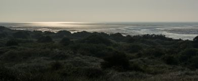 Panoramic, Het Oerd, Ameland wadden island Holland the Netherlands stock photos