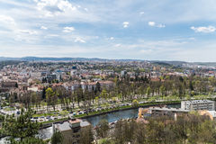 Panoramic High View Of Cluj Napoca City Royalty Free Stock Photos