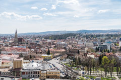 Panoramic High View Of Cluj Napoca City Royalty Free Stock Image