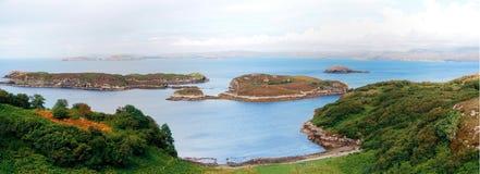 Panoramic highland scotland. Beach and ocean Royalty Free Stock Photo