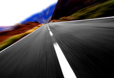 Panoramic highway view Royalty Free Stock Photography