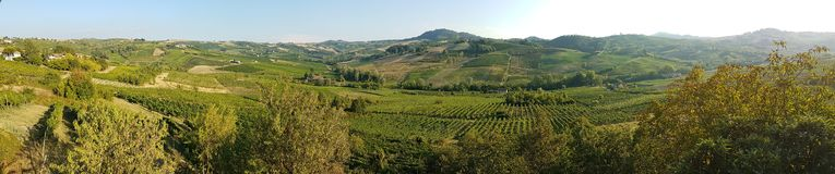 Panoramic hills of italy. A panoramic view of italian hills in italy, with a fantastic and typical vegetation and natural colors Royalty Free Stock Photos