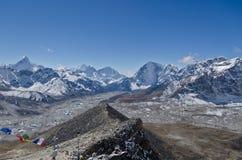 Panoramic Himalaya landscape Royalty Free Stock Image