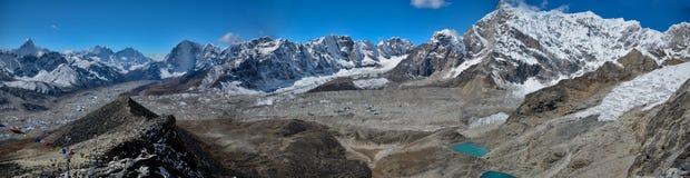 Panoramic Himalaya landscape Stock Images