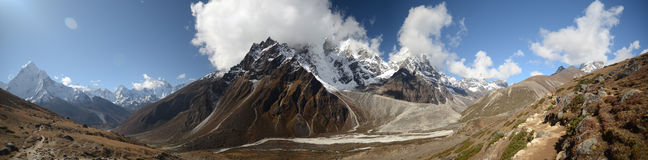 Panoramic Himalaya landscape Royalty Free Stock Photography
