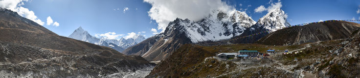 Panoramic Himalaya landscape Stock Photography