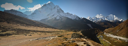 Panoramic Himalaya landscape Stock Image
