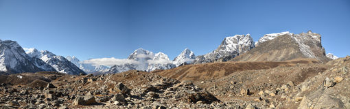 Panoramic Himalaya landscape Stock Images