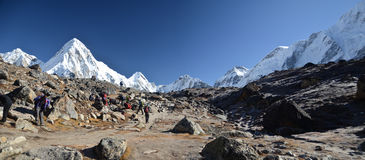 Panoramic Himalaya landscape Royalty Free Stock Photography