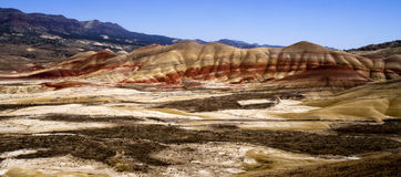Panoramic Horizontal Composition Painted Desert John Day Fossil Stock Photo