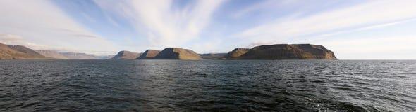 Panoramic Icelandic coast Royalty Free Stock Images