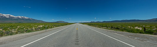 Panoramic Idaho Highway Stock Photography