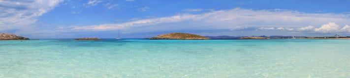 Panoramic Illetas turquoise Formentera Royalty Free Stock Image
