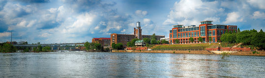 Panoramic image of buildings in downtown Columbus, Georgia Royalty Free Stock Image