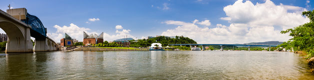 Panoramic image of Chattanooga, Tennessee Royalty Free Stock Image
