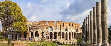 Panoramic image of Colosseum Royalty Free Stock Photography
