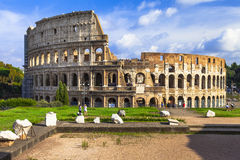 Panoramic image of Colosseum royalty free stock image