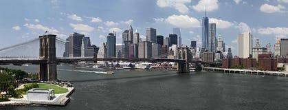 Panoramic image of downtown Manhattan Stock Photo