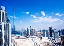 Panoramic image of Dubai city Royalty Free Stock Photo