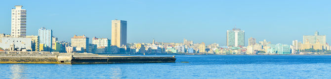 Panoramic image of the Havana skyline. High resolution panoramic image of the Havana skyline Stock Photo