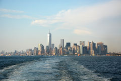 Panoramic image of lower Manhattan skyline Stock Photo