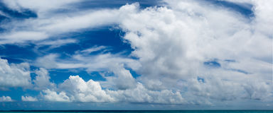 Panoramic Image Maldivian Tropical seascape Stock Images