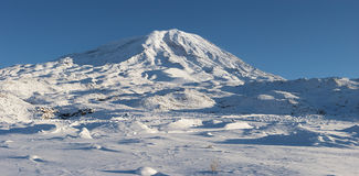 Panoramic image of Mount Ararat in winter Stock Images