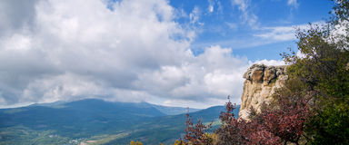 Panoramic image of Mountain Royalty Free Stock Images