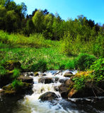 Panoramic image of a mountain river. Stock Images