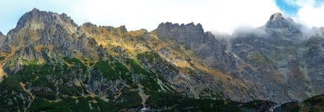 Panoramic image. mountain scenery Stock Photos