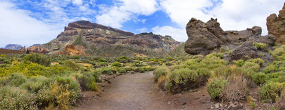 Panoramic image of the mountain on the Tenerife island Stock Images