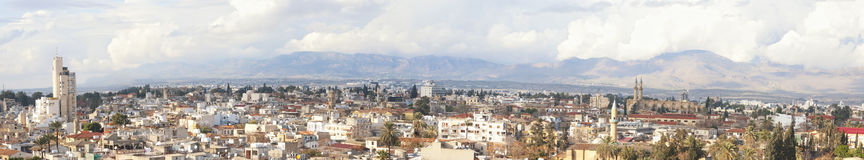 Panoramic Image of Nicosia city Stock Photos