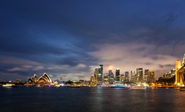 Panoramic Image Of Sydney, Australia Stock Photos