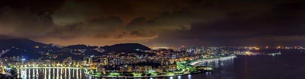 Panoramic image of Rio de Janeiro at night Stock Photography