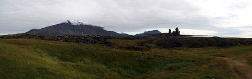 Snaefellsjokull volcano, Snaefellsnes, western Iceland Royalty Free Stock Images