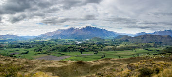Panoramic image of southern New Zealand. A panoramic image of southern New Zealand Stock Image
