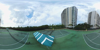 360 panoramic image of a tennis court Stock Photography