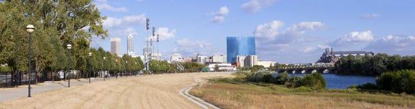 Panoramic Indianapolis Indiana Stock Photo