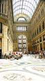 Panoramic Interior Galleries of the Umberto I, Naples Royalty Free Stock Images