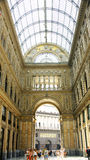 Panoramic Interior Galleries of the Umberto I, Naples Stock Photos