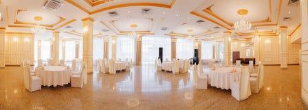 Panoramic interior. Panoramic view of luxury living room interior stock photography