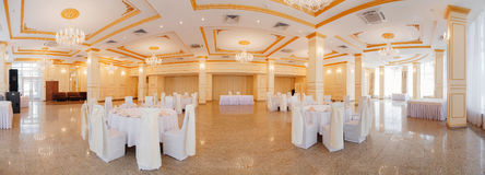 Panoramic interior. Panoramic view of luxury living room interior royalty free stock photo