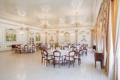 Panoramic interior. Panoramic view of luxury living room interior royalty free stock photos