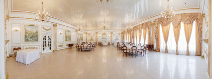 Panoramic interior. Panoramic view of luxury living room interior royalty free stock images