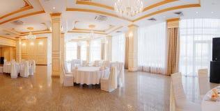Panoramic interior. Panoramic view of luxury living room interior stock image
