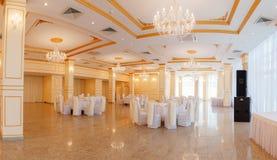 Panoramic interior. Panoramic view of luxury living room interior stock images