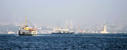 Panoramic Istanbul Royalty Free Stock Photos