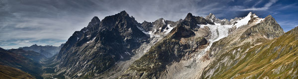 Panoramic Italian Alps Royalty Free Stock Photography