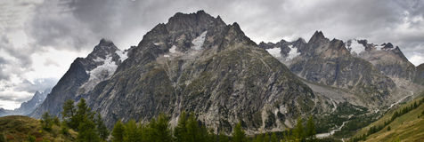 Panoramic Italian Alps Royalty Free Stock Images