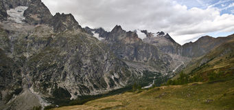 Panoramic Italian Alps Stock Photo